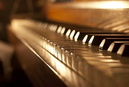 Photo for Piano keys on an antique piano played by The Buena Vista Social Club of Cuba - Royalty Free Image