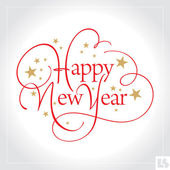 HAPPY NEW YEAR hand lettering -- handmade calligraphy vector (eps8)