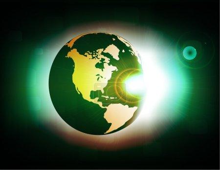 Photo pour Illustration de conception d'éclipse - image libre de droit