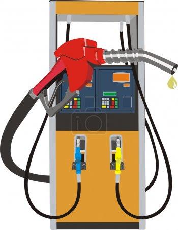 Illustration pour Illustration vectorielle de la pompe à carburant - image libre de droit