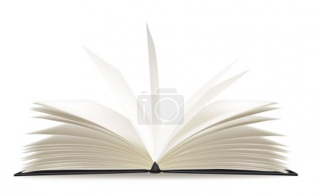 White book on the white background. Vector....