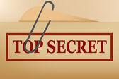 Top secret folder file with slight grunge Vector