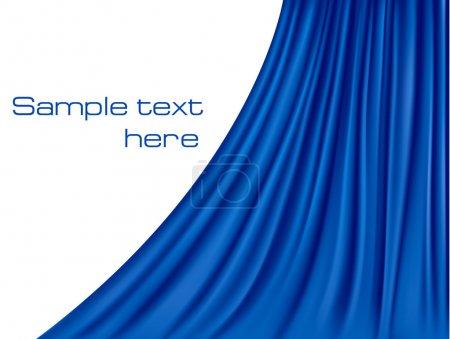 Illustration pour Fond avec rideau de velours bleu . - image libre de droit