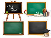 Set of school board blackboards Back to school