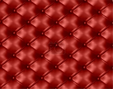 Red leather texture background. Vector illustration.