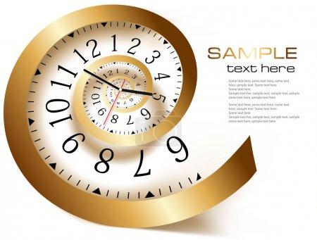 Illustration pour Fond abstrait avec le temps infini . - image libre de droit
