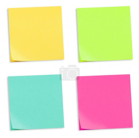 Set of colorful sticky memo notes...