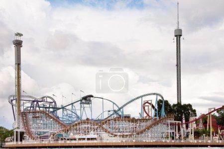 Photo pour Roller coaster au parc d'attractions tivoli à stockholm, Suède - image libre de droit