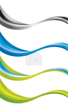 Illustration for Colorful wave isolated over white background. vector - Royalty Free Image