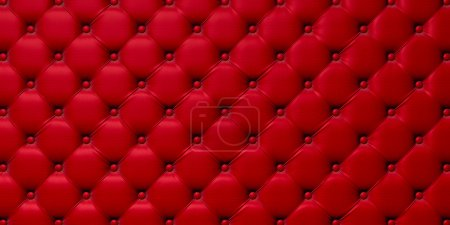 Photo for Buttoned on the red Texture. Repeat pattern - Royalty Free Image