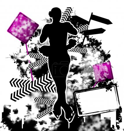 Figure Skating grunge template vector