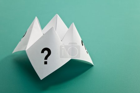 Photo for Paper Fortune Teller,concept of uncertainty - Royalty Free Image