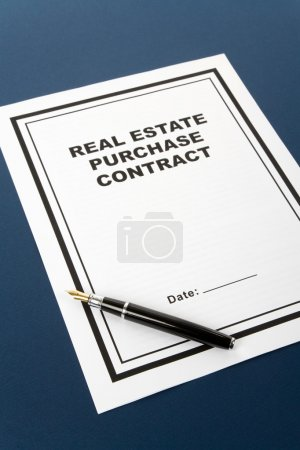 Real Estate Purchase Contract, business concept...