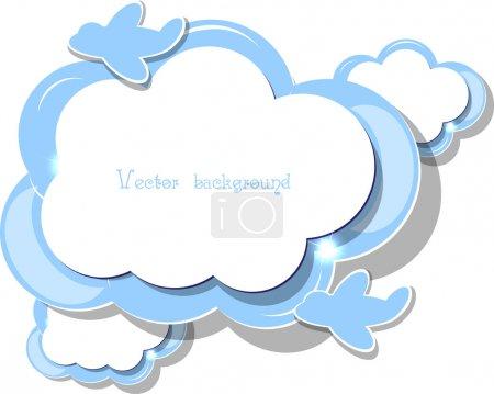 Illustration pour Vecteur de nuage - image libre de droit