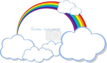 Illustration pour Vecteur arc-en-ciel nuage - image libre de droit
