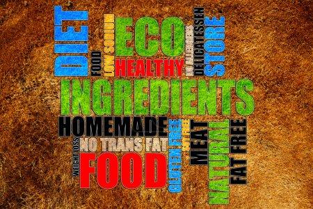 Photo pour Tags alimentaires - image libre de droit