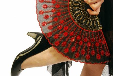 Foto de Una bailarina de flamenco con la ropa típica española - Imagen libre de derechos