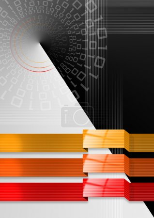 Geometric abstract background black red and orange