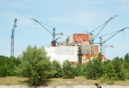 Chernobyl nuclear power station, abandoned reactor 5-6