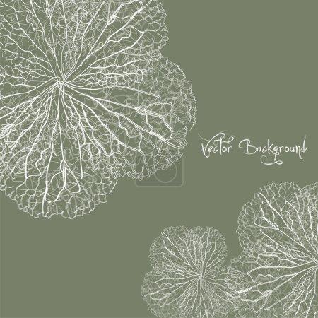 Illustration for Vector flower background - Royalty Free Image