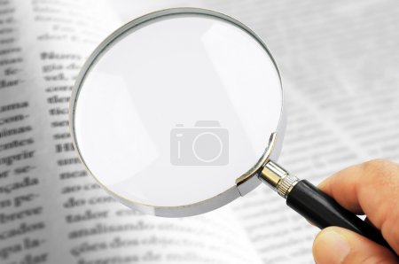Lens on book