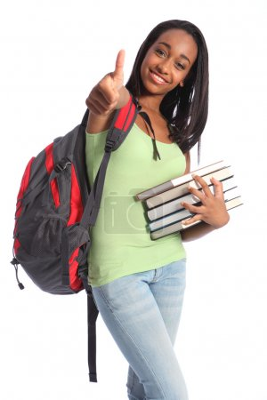 Education success African American teenager girl