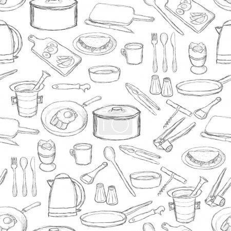 Kitchen equipment pattern
