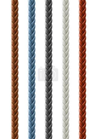 Leather seamless braided plait