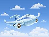 Osobní letadlo letí do nebe