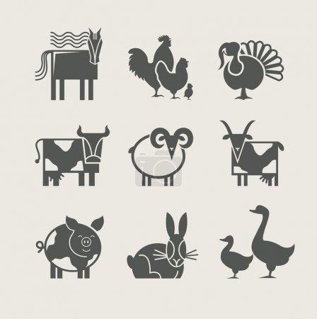 Home animal set icon