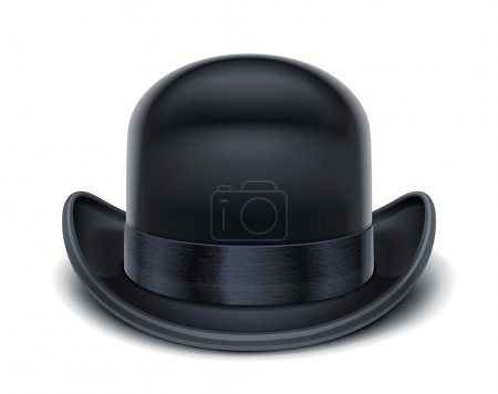 Illustration for Bowler hat vector illustration isolated on white background EPS10. Transparent objects and opacity masks used for shadows and lights drawing - Royalty Free Image