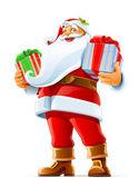 Santa claus s dárkem