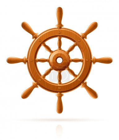 Ship wheel marine wooden vintage