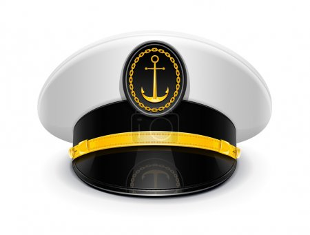 Captain peaked cap with cockade
