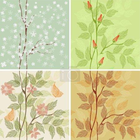 Four seasons - winter, spring, summer, autumn