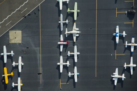 Airplanes Parked on a Ramp at an Airport