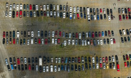 Car Parking Lot Aerial