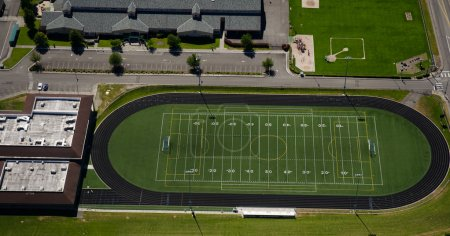 Football Field at Urban High School