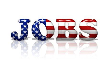 Photo pour Les emplois du mot aux couleurs du drapeau américain, emplois en Amérique - image libre de droit