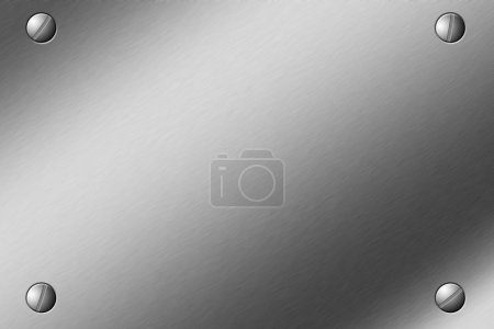 Brushed Steel Plate