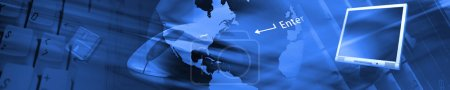 Photo for Technology banner. All images are mine shots. - Royalty Free Image