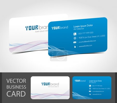 Illustration for Business card templates. Ready for best prints and editing. - Royalty Free Image