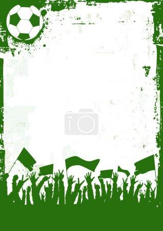 Grunge Soccer Background