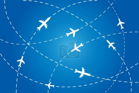 Planes navigating on air