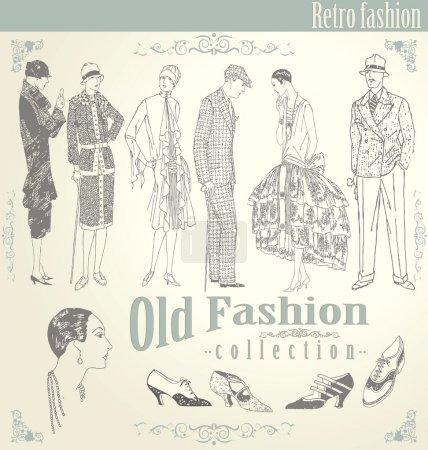 Retro fashion set