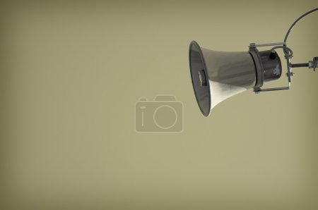 Photo pour Haut-parleur de vieux minable avec beaucoup de surface - image libre de droit