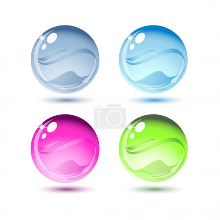 Illustration for Water drops, vector - Royalty Free Image
