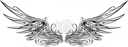 Illustration for Illustration of ornamental wing - Royalty Free Image