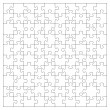 Vector transparent jigsaw puzzle with 100 pieces...