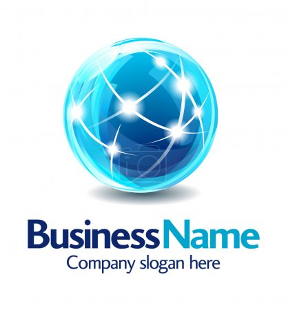 Photo for Dynamic Business Name Concept - All elements are grouped and on individual layers in the vector file for easy use - Royalty Free Image
